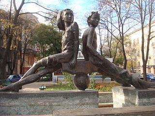 Памятник Пете и Гаврику. г. Одесса (1988)